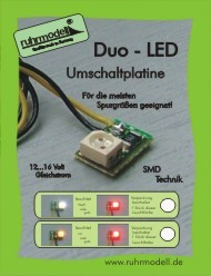 Duo-Led Umschaltplatine weiss/rot